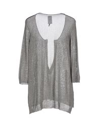 Manila Grace | Gray Sweater | Lyst