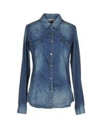 Twenty Easy By Kaos Blue Denim Shirts