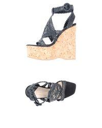 Paloma Barceló Black Sandals