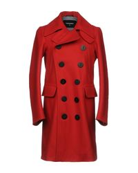 DSquared² - Red Coat for Men - Lyst