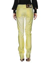 Pantalones Just Cavalli de color Yellow
