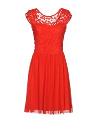 ONLY - Red Short Dress - Lyst