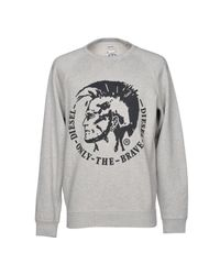 DIESEL Gray Sweatshirt for men