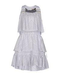 Peter Pilotto White Kurzes Kleid
