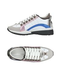 DSquared² White Low Sneakers & Tennisschuhe