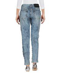 Pantalon en jean Philipp Plein en coloris Blue