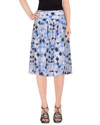 Arthur Arbesser Gray Knee Length Skirt