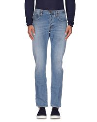People - Blue Denim Trousers for Men - Lyst