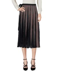 Antonio Marras Black 3/4 Length Skirt