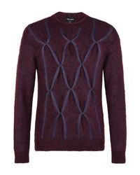 Pullover Giorgio Armani pour homme en coloris Purple
