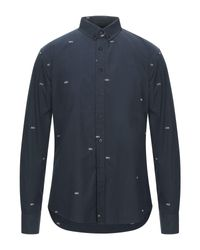 Thinking Mu Blue Shirt for men