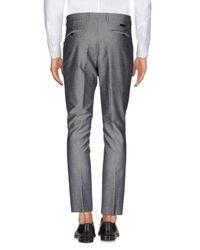 Alessandro Dell'acqua Gray Casual Pants for men