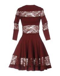 Philipp Plein Red Short Dress