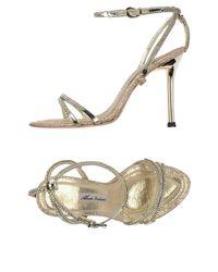 Sandales Alberto Venturini en coloris Metallic
