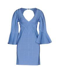 Hervé Léger Blue Short Dresses