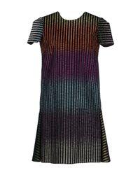 Marco De Vincenzo Black Rainbow Metallic Dress