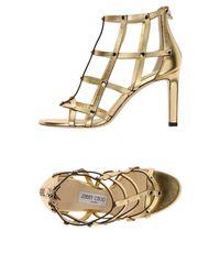 024b8a5af73 Lyst - Jimmy Choo  tina  Heeled Sandals in Metallic