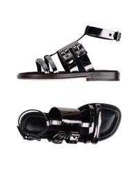 Cedric Charlier Black Sandals