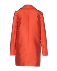 Carven - Orange Overcoats - Lyst
