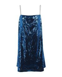 Robe courte Laneus en coloris Blue