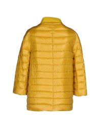 Herno - Yellow Down Jacket - Lyst