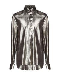 Chemise Alexander McQueen pour homme en coloris Metallic