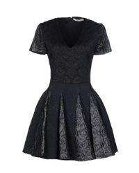 Amen - Black Short Dress - Lyst