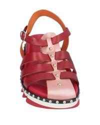 Sandales Tipe E Tacchi en coloris Red