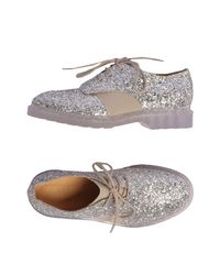 MM6 by Maison Martin Margiela - Metallic Lace-up Shoes - Lyst