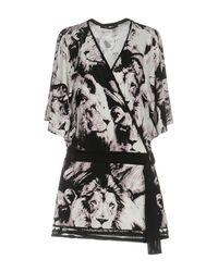 Roberto Cavalli Purple Short Dress