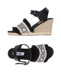 Colors Of California Black Sandals