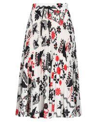 Falda a media pierna RED Valentino de color White