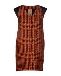 Alice San Diego Orange Short Dress