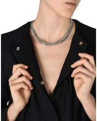 MM6 by Maison Martin Margiela - Metallic Necklace - Lyst