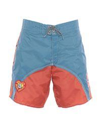 Pantalons de plage Greg Lauren pour homme en coloris Blue