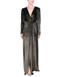 Robe longue Alberta Ferretti en coloris Metallic