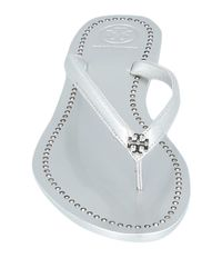 Sandalias de dedo Tory Burch de color Metallic