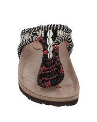 Sandalias de dedo Maliparmi de color Black