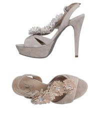 Sgn Giancarlo Paoli Natural Sandals