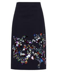 Falda corta Victoria Beckham de color Blue