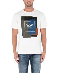 T-shirt di WOOD WOOD in White da Uomo