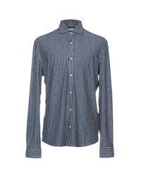 Camicia di Brunello Cucinelli in Blue da Uomo