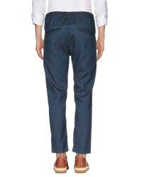 Cruna Blue Casual Pants for men