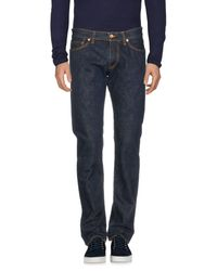 President's Blue Denim Pants for men