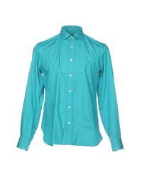Chemise Mp Massimo Piombo pour homme en coloris Blue