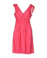 P.A.R.O.S.H. - Pink Short Dress - Lyst