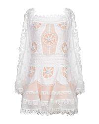 Odi Et Amo White Short Dress