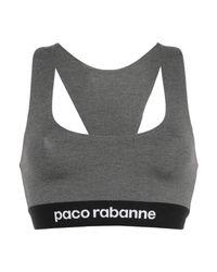 Brassière à bande logo Paco Rabanne en coloris Gray