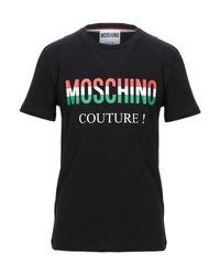 T-shirt di Moschino in Black da Uomo