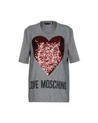 T-shirt di Love Moschino in Gray